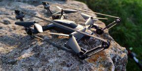 Штука дня: дрон-вездеход с гусеничным приводом и управлением со смартфона