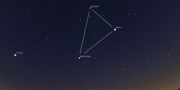 Звёздное небо: Большой Летний Треугольник