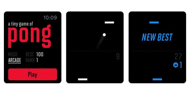 Игры для Apple Watch: A Tiny Game of Pong