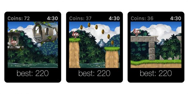 Игры для Apple Watch: Dare the Monkey: Go Bananas!