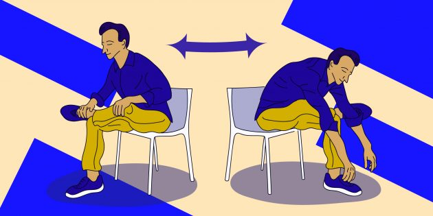 Стретчинг на работе: упражнение «Открытые бёдра»