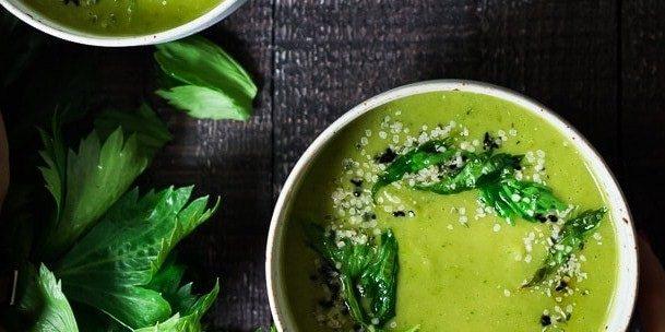 Суп из сельдерея с картошкой и зеленью