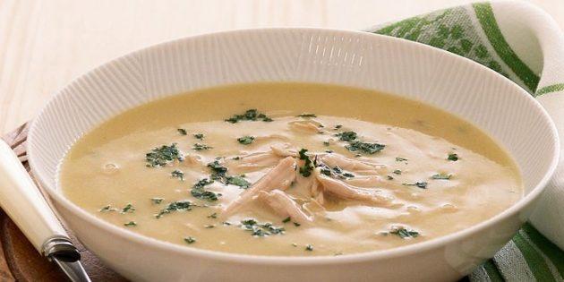 Суп из сельдерея с курицей
