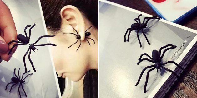 Серьги-пауки