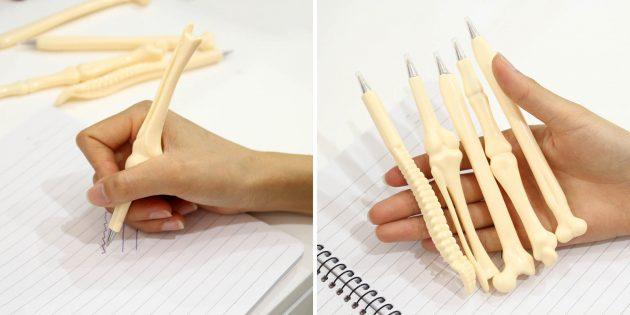 Шариковые ручки в форме костей