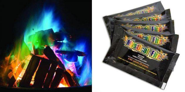 Разноцветные краски для огня