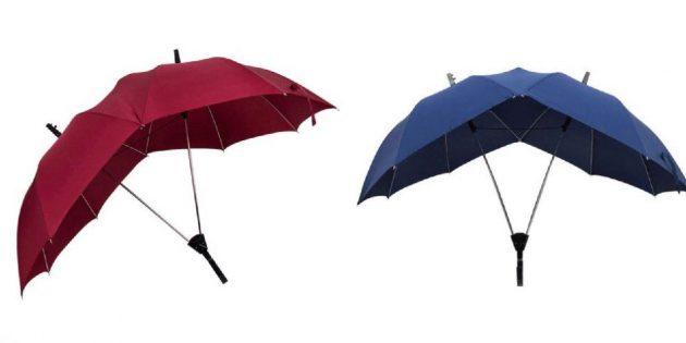 Складной зонтик для двоих