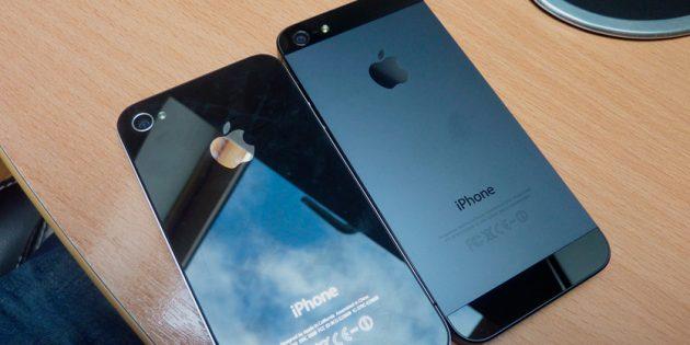 iPhone 5 чёрного цвета