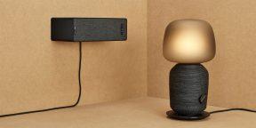 IKEA и Sonos представили настольную лампу и книжную полку, которые заменяют аудиоколонки