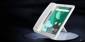 Poptel V9 — Android-планшет в формате стационарного телефона с трубкой