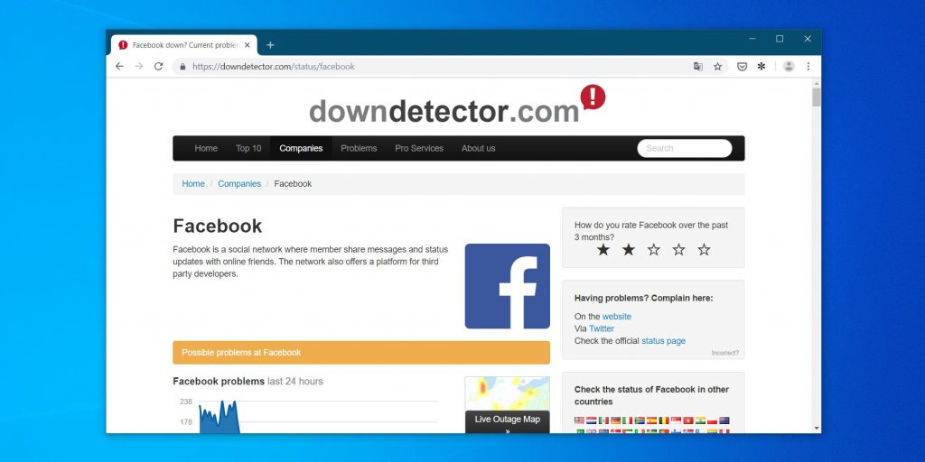 пропал интернет: воспользуйтесь Down Detector