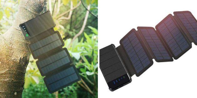 Пауэрбанк с солнечной батареей