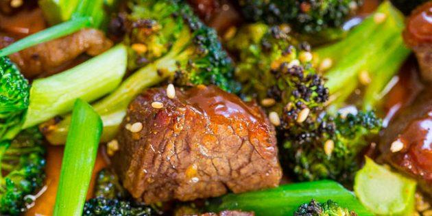 Как приготовить говядину в духовке: говядина с брокколи в соевом соусе с мёдом и имбирём