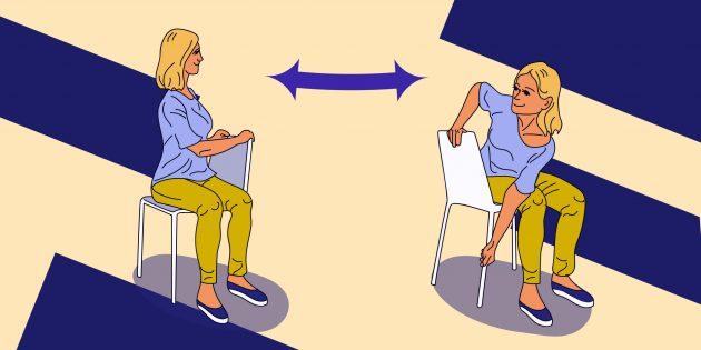 Стретчинг на работе: упражнение «Релакс спины»