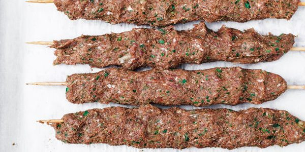Фарш для люля-кебаба с болгарским перцем и помидором