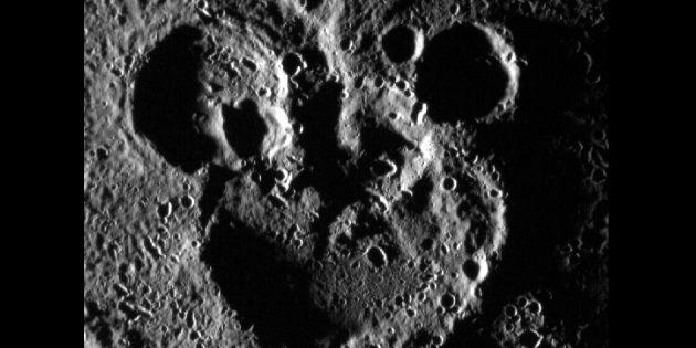 Фото космоса: меркурианский Микки-Маус