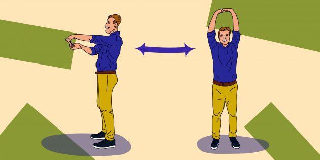Стретчинг на работе: упражнение «Свободные запястья»
