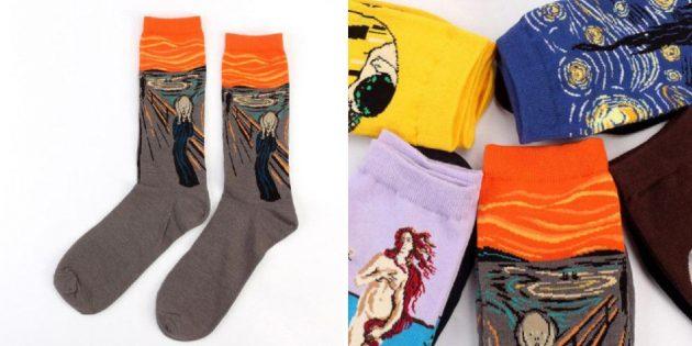 Носки с репродукциями картин