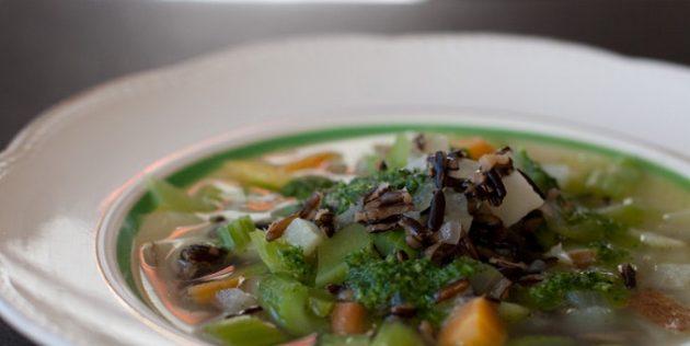 Суп из сельдерея с рисом