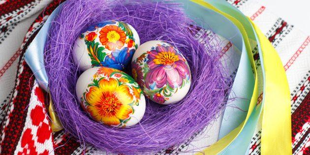 Как покрасить яйца на Пасху: Термонаклейки