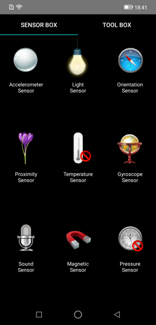 Vernee M8 Pro: Sensor Box