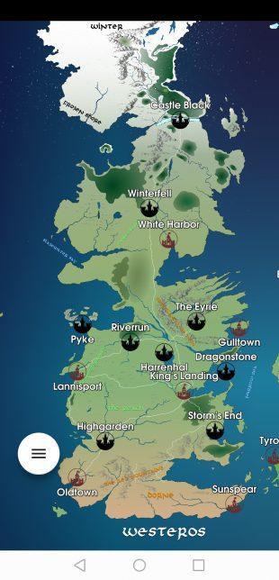 Приложение дня: мобильная карта мира «Игры престолов»