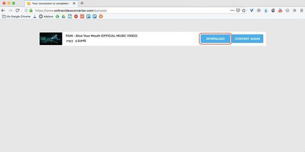 Как скачать музыку с YouTube с помощью расширения YouTube mp3