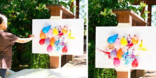 Подвижные игры: дартс с воздушными шариками