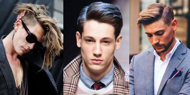 Модные мужские стрижки 2019года: андеркат с боковым пробором