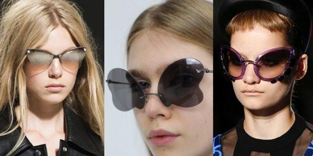Женские солнцезащитные очки-бабочки