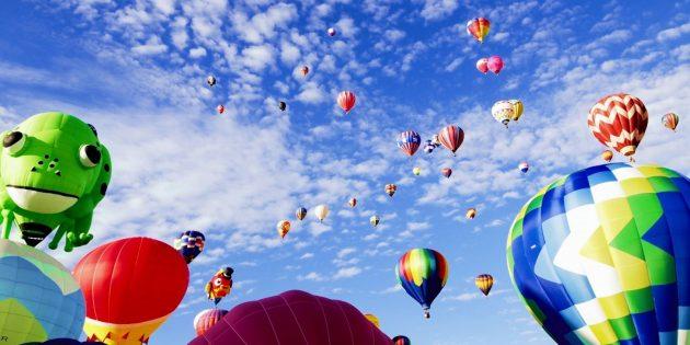 Активные развлечения: полёт на воздушном шаре