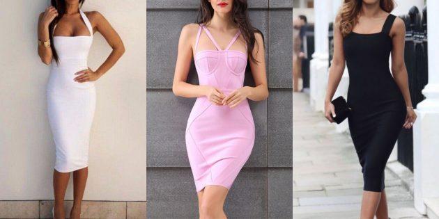 Модные платья 2019года: бандаж