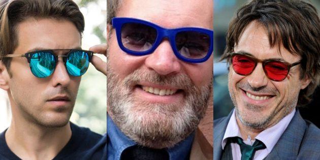 Яркие разноцветные очки