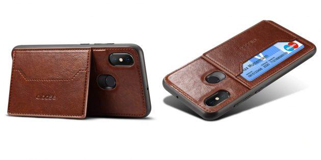 Чехол для смартфона с кармашком для карт