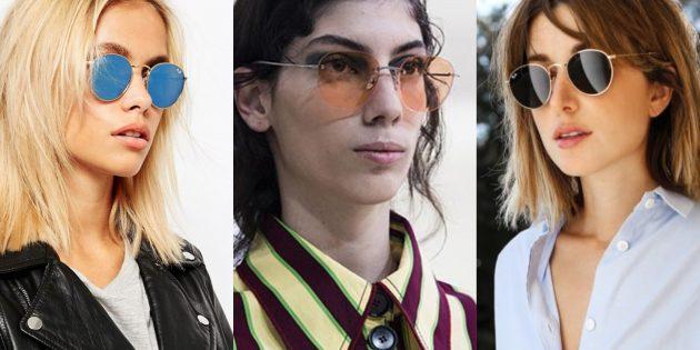 Женские солнцезащитные очки в округлой оправе