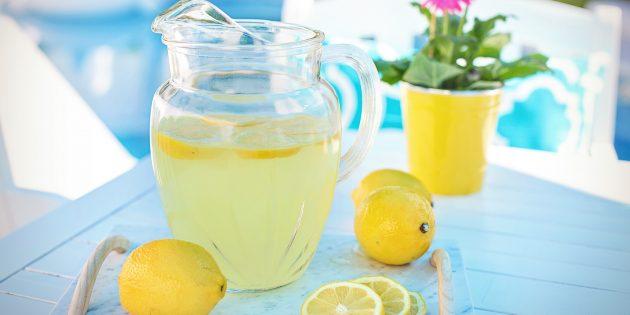 Классический лимонад с лимоном