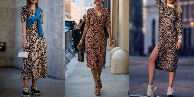 Модные платья 2019года: платья с леопардовым принтом