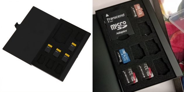 Футляр для карт памяти