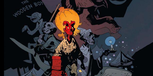 Хеллбой: Существо с красной кожей, похожее на демона