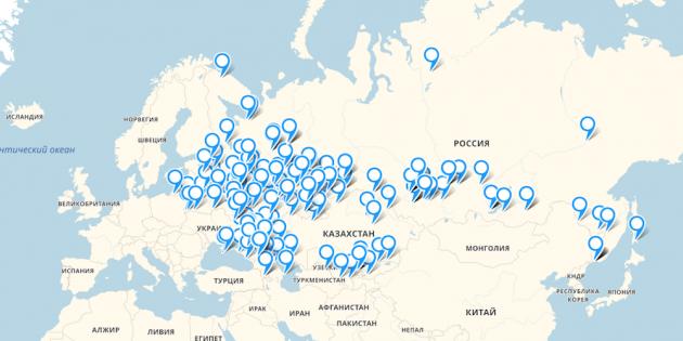Электронная гарантия BQ: карта сервисных центров