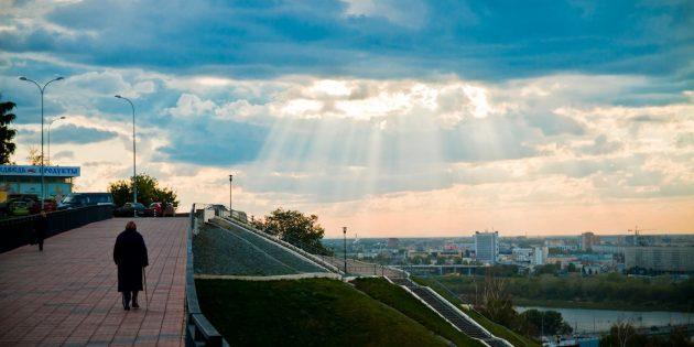 Куда поехать на майские: Набережная в Нижнем Новгороде