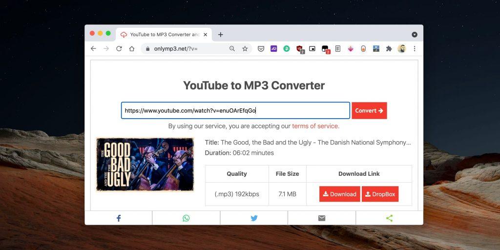 Как скачать музыку с YouTube с помощью онлайн-сервиса OnlyMP3
