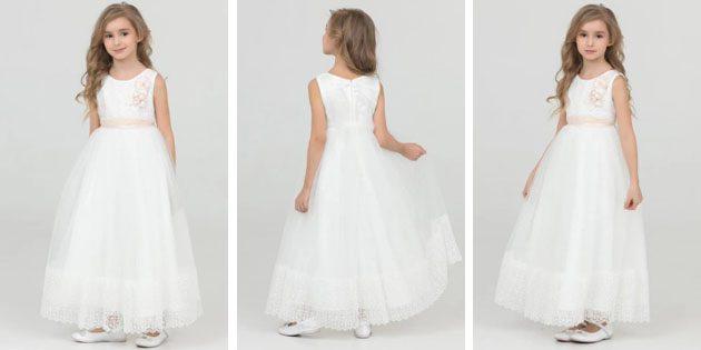 Платье с длинной юбкой от Baby Steen