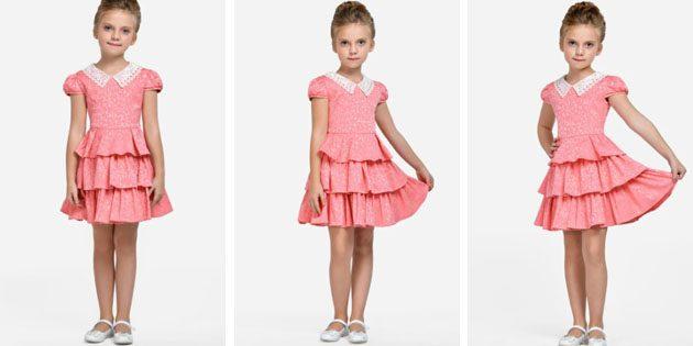 Платье с кружевным воротничком от Alisia Fiori