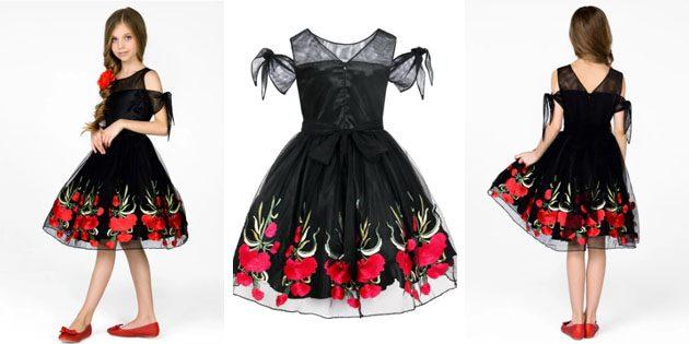 Платье с цветочным узором от Shened
