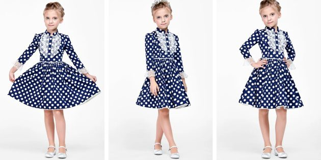 Платье с гороховым принтом от Alisia Fiori
