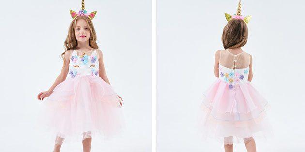 Детские платья на выпускной: Платье с асимметричным подолом