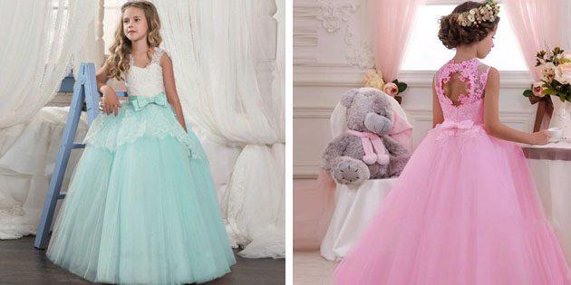 Детские платья на выпускной: Платье с открытой спинкой