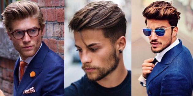 Модные мужские стрижки 2019года: помпадур