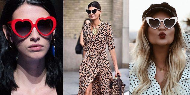 Женские солнцезащитные очки-сердечки